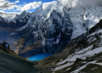 Santa Rosa Pass on the Huayhuash trek  ft