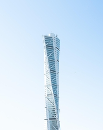 Santiago Calatravas Turning Torso in Malm Sweden - m tall