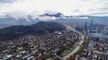 Santiago Chile after the rain