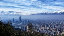 Santiago Chile at the foot of the Andes