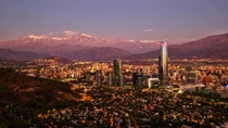 Santiago in the Light of the Setting Sun