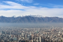 Santiago in the shadow of the Andes