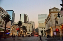 Santiago just before sunset