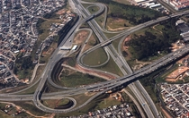 sao paulo toll road and motorway interchange