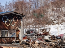 Sapporo Olympic Ruins Bobsled finish house MtTeine