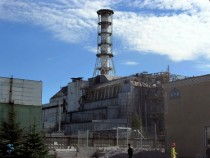 Sarcophagus erected to contain radiation from Chernobyl