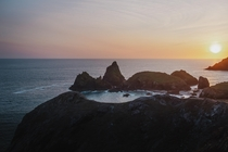 Sat here for a few hours watching the sun setting over one of the UKs finest bits of coast - Kynance Cove  IG pete_ell