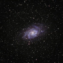 Sat outside for  hours last night and the last data set was w my Stellarvue SVX aimed at the Triangulum Galaxy for almost  hours to obtain this image edited in Pixinsight Lossy compression is a b