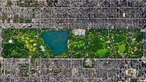 Satellite D view of Central Park New York City