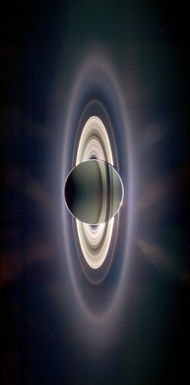 Saturn eclipsing the sun Taken by the robotic spacecraft