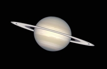 Saturn in its natural colours