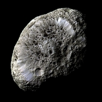 Saturn moon Hyperion from Cassini