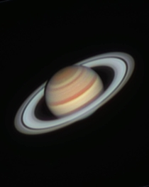 Saturn under excellent conditions with my  telescope