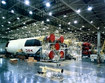 Saturn V rockets being manufactured