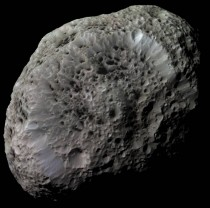Saturns moon Hyperion - One of the largest bodies known to be highly irregularly shaped in the Solar System