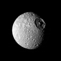 Saturns moon Mimas wait Thats no moon