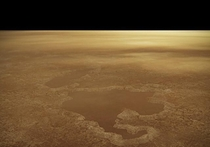 Saturns moon Titan has lakes suggesting that nitrogen stored below the surface may have exploded a result of warming temperatures The explosions created craters on the moon that later filled up with liquid gas