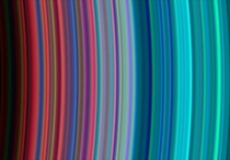 Saturns Rainbow Rings taken by Cassini in   NASAJPLUniversity of Colorado