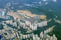Sau Mau Ping a mountainous residential district of Hong Kong