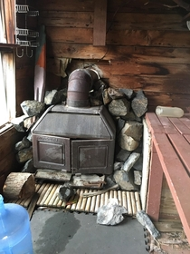 Sauna in a shed homeowner passed away a few years ago