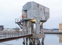 Sauna in the Frihamnen port district of Gothenburg Sweden Designed by Berlin-based architects raumlabor