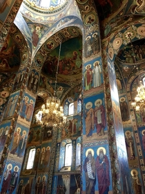 Savior on the Spilled Blood Cathedral St Petersburg Russia