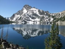 Sawtooth Lake with Mount Reagan