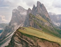 Sawtooth peaks in the Dolomites