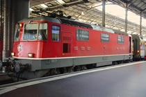 SBB-CFF-FFS Re  electric locomotive at Lucerne Bahnhof
