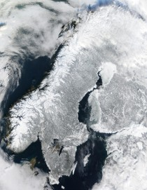 Scandinavia from space February