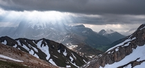 Scattered clouds in the Dolomites
