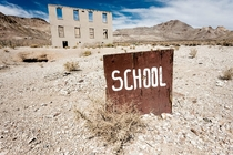 School in Rhyolite Nevada by Alyaksandr Stzhalkouski