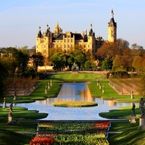 Schwerin Palace and Gardens Mecklenburg Germany  designed by Georg Adolph Demmler