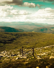 Scotlands Most Pointless Gate Cairngorms National Park UK