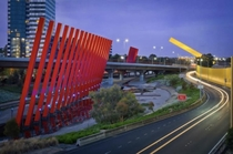 Sculptures of the CityLink Toll Road in Melbourne