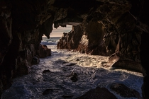 Sea cave at Pfeiffer Beach - Big Sur Coastline California