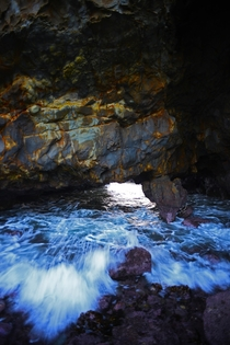 Sea cave in Palos Verdes California