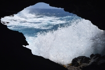 Sea cave on Oahu