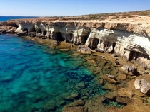 Sea Caves at Cape Greco Cyprus this Weekend Water felt great