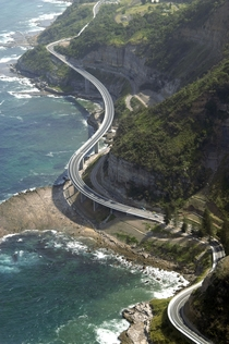 Sea Cliff Bridge Australia one of only seven off-shore parallel to coast bridges in the world