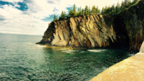 Sea cliffs at The Ovens near Lunenburg Nova Scotia