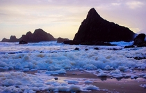 Sea foam at Seal Rock State Park Oregon