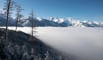Sea of clouds in the Austrian Alps