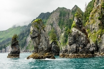 Sea Stacks in Kenai Fjords NP Alaska