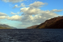Searching for the monster at Loch Ness near Fort Augustus Scotland