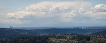 Seattle and Bellevue Skylines