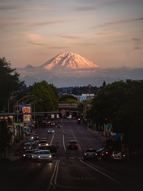 Seattle and Rainier