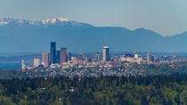 Seattle and the Olympic Mountains