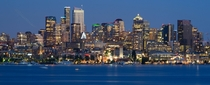 Seattle by night from Gas Works Park