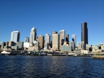 Seattle skyline from a harbor cruise last year